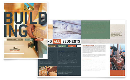 Home Builders & Construction - Brochure Template Design