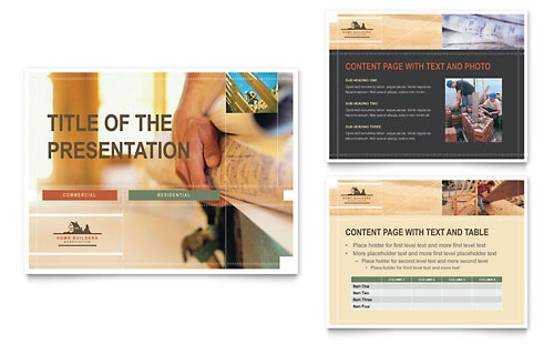 Home Builders & Construction - PowerPoint Presentation Template
