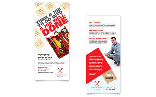 Handyman Services Rack Card Template Design