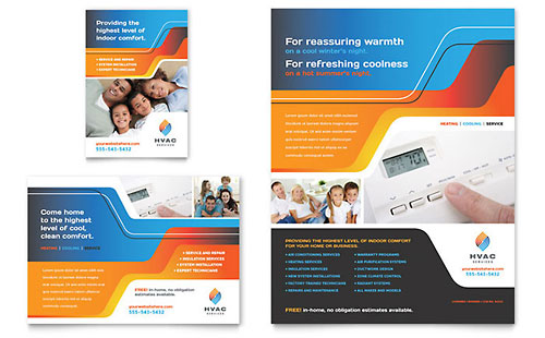 HVAC Flyer & Ad Template Design