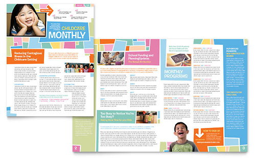 Free Adobe InDesign Templates – Example of Newsletter Templates