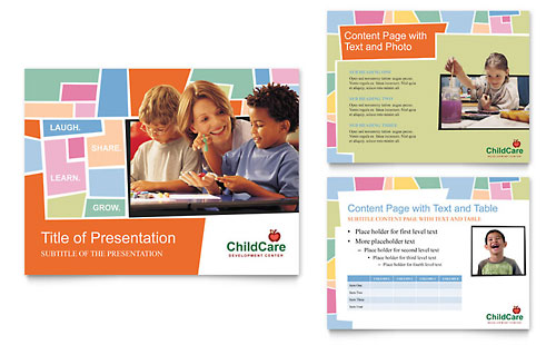 Preschool Kids & Day Care - PowerPoint Presentation Template Design