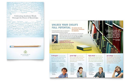 Academic Tutor & School - Brochure Template Design