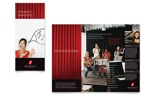 Music School Brochure Template Design