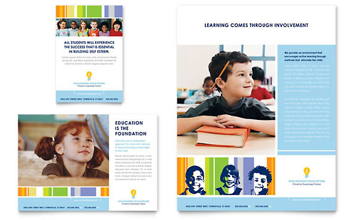 Learning Center & Elementary School - Flyer & Ad Template Design