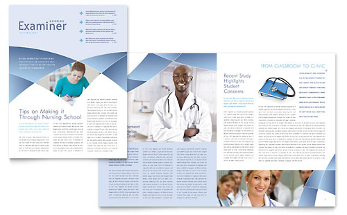 Nursing School Hospital - Newsletter Template Design