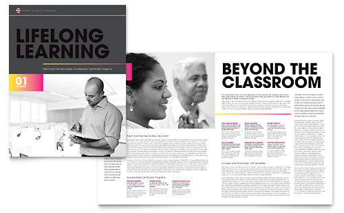 Adult Education & Business School Brochure Design Template