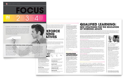 Adult Education & Business School Newsletter Template Design