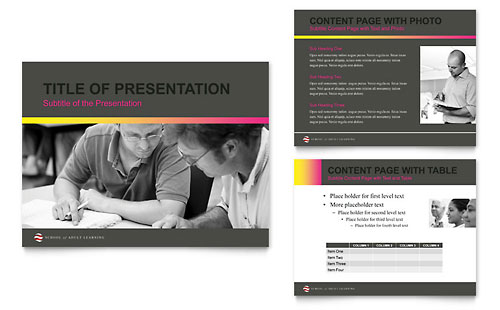 Adult Education & Business School PowerPoint Presentation Template Design