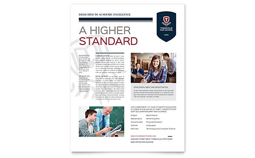 High School Flyer Template Design