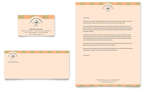 Catering Company Business Card & Letterhead Template Design