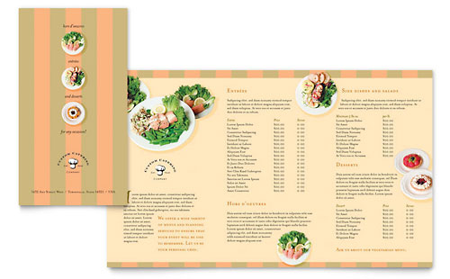 Catering Company Take-out Brochure Template Design