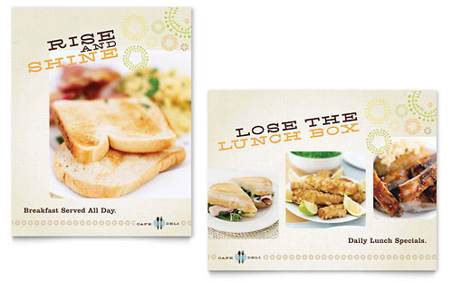 Cafe Deli Poster Template Design