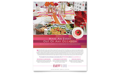 Corporate Event Planner & Caterer Flyer Design Template