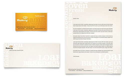 Artisan Bakery - Business Card & Letterhead Template Design