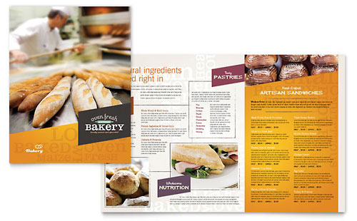 Artisan Bakery Menu Template Design