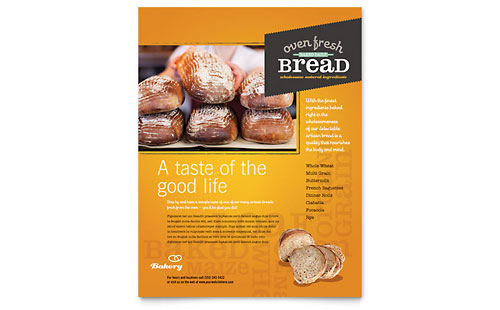 Artisan Bakery Flyer Template Design
