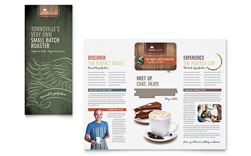 Coffee Shop - Brochure Template Design