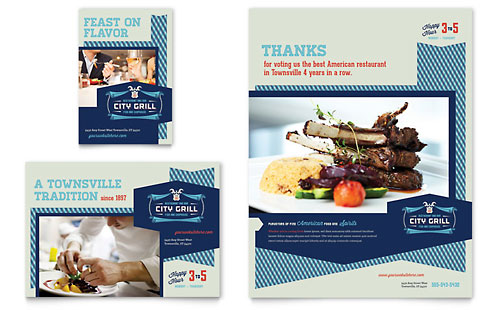 Fine Dining Restaurant Flyer & Ad Template Design