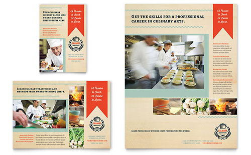 Culinary School Flyer & Ad Template Design