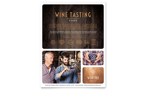 Winery Flyer Template Design