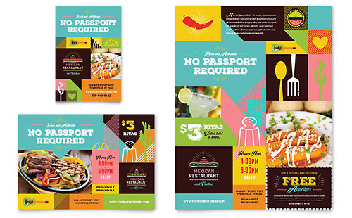 Mexican Restaurant Flyer & Ad Template Design