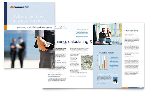 Financial Planning & Consulting - Brochure Template Design
