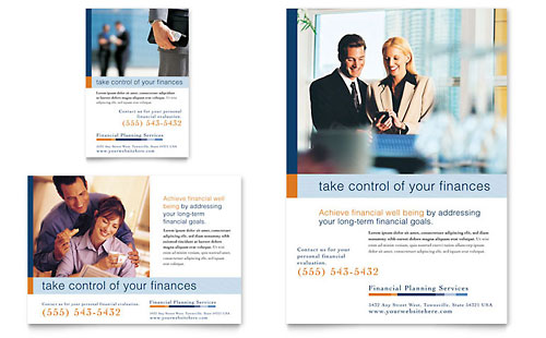 Financial Planning & Consulting Flyer & Ad Template Design