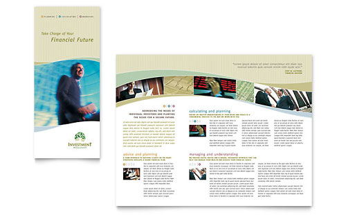 Investment Management - Tri Fold Brochure Template Design