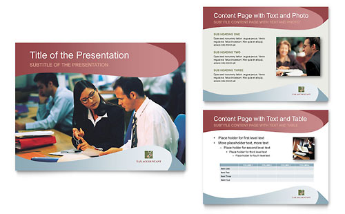 Tax Accounting Services PowerPoint Presentation Template Design