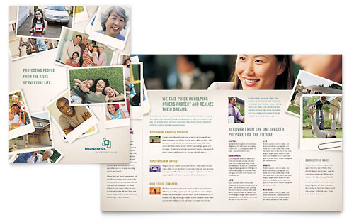 Life Insurance Company - Brochure Template Design