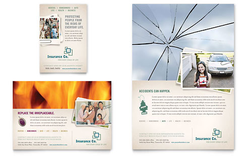 Life Insurance Company - Flyer & Ad Template Design