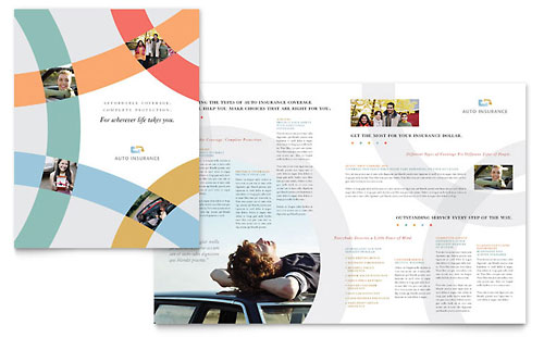 Car Insurance Company Brochure Template Design