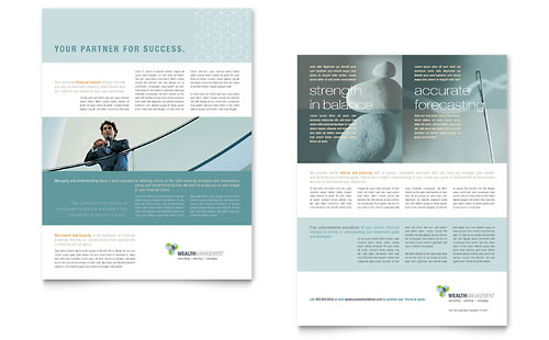 Wealth Management Services Datasheet Template Design