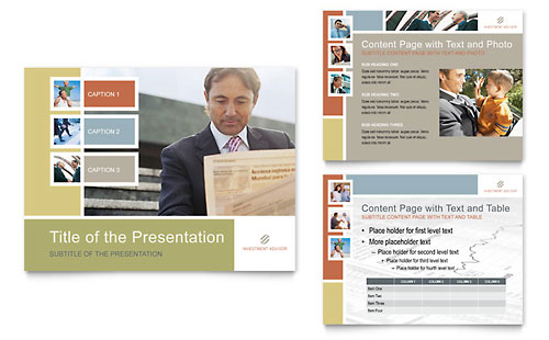 Investment Advisor PowerPoint Presentation Template Design