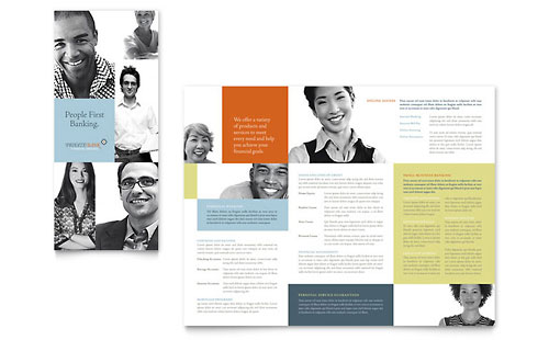 Private Bank Tri Fold Brochure Template Design