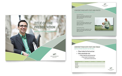 Financial Advisor - PowerPoint Presentation Template Design