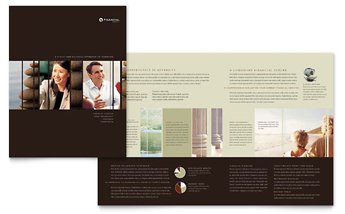 Financial Planner Brochure Template Design