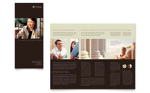 Financial Planner - Brochure Template Design