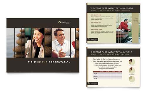 Financial Planner - PowerPoint Presentation Template Design