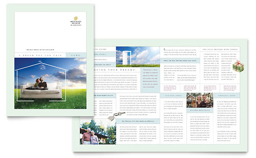 Mortgage Lenders Brochure Template Design