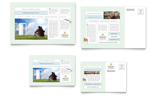 Mortgage Lenders Postcard Template Design