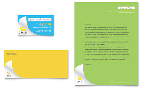 Consumer Credit Counseling Business Card & Letterhead Design Template