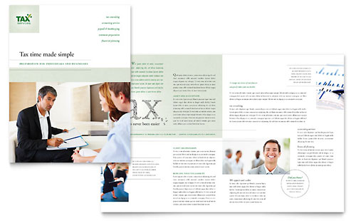 Accounting & Tax Services - Brochure Template Design