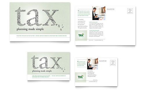 Accounting & Tax Services - Postcard Template