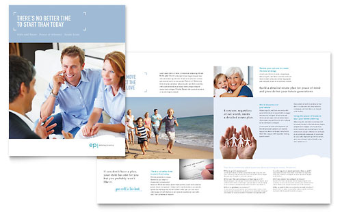 Estate Planning - Brochure Template Design