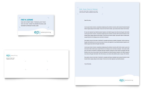 Estate Planning - Business Card & Letterhead Template Design