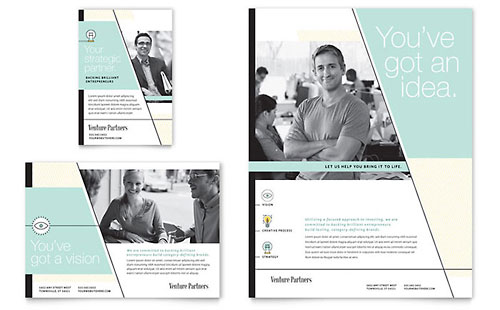 Venture Capital Firm Flyer & Ad Template Design