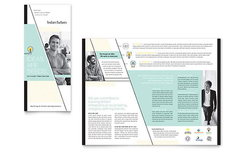 Venture Capital Firm Tri Fold Brochure Template Design
