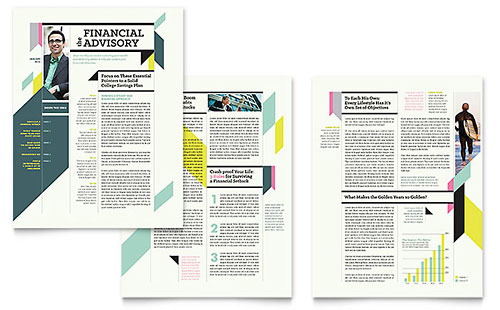 Personal Finance Newsletter Template Design